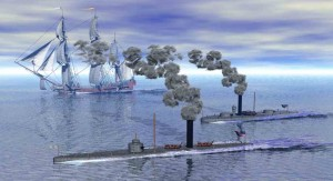 Ironclads at Battle of Mobile Bay