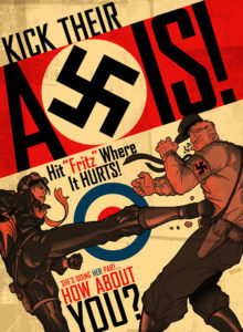Kick Their Axis Propaganda Poster